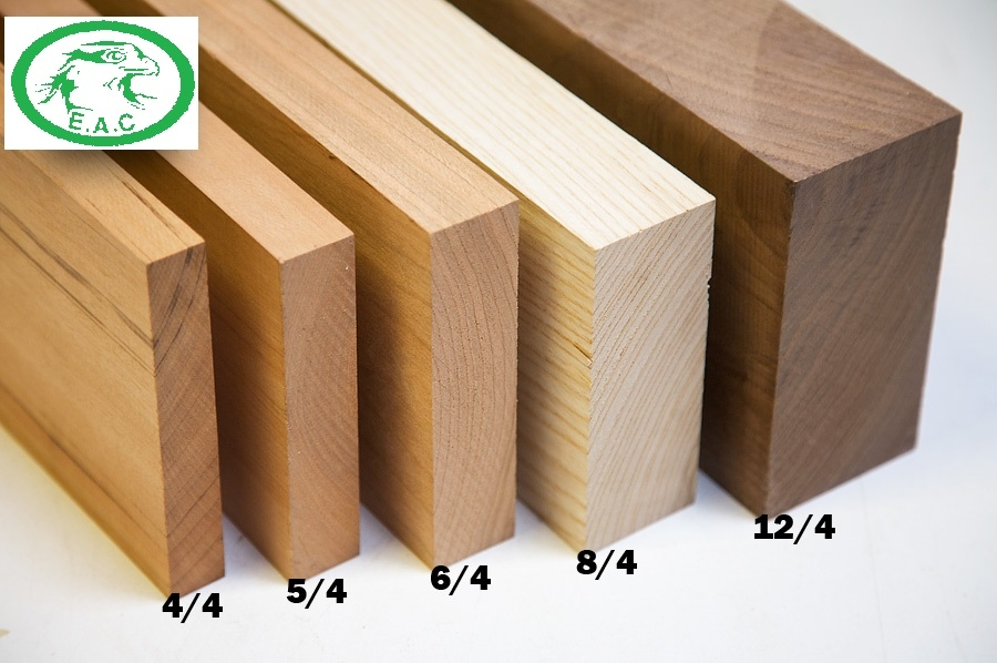 lumber thickness compare